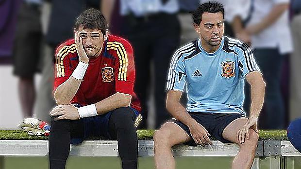Iker Casillas y Xavi Hernández reciben el Príncipe de Asturias