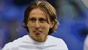 Luka Modric smiling
